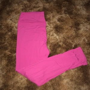 Lularoe Solid Pink TC Leggings